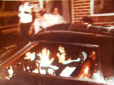 Elvis Death - Elvis last picture  in car!